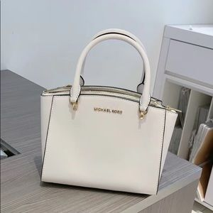 Michael kors sm conv Ellis satchel white